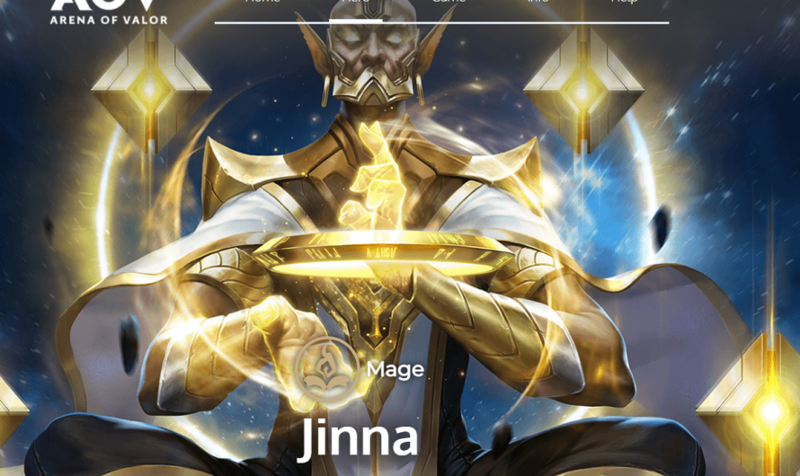 จินนา ตัวละคร rov ตำแหน่ง Mage